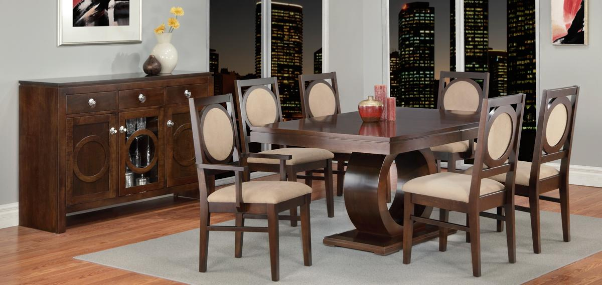 Orlando Pedestal Table Dining Set