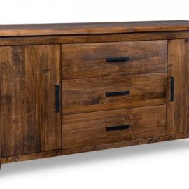 Pemberton 3-Centre Drawer 2-Wood Door Sideboard
