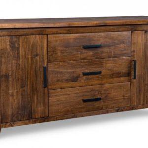 Pemberton 3-Centre Drawer 2-Wood Door Sideboard
