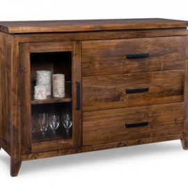 Pemberton 3-Drawer 1-Glass Door Sideboard