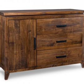 Pemberton 3-Drawer 1-Wood Door Sideboard