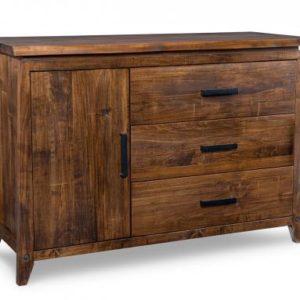 Pemberton 3-Drawer 1-Wood Door Sideboard