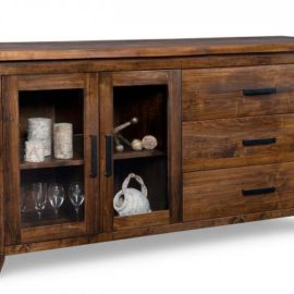 Pemberton 3-Drawer 2-Glass Door Sideboard