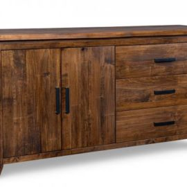 Pemberton 3-Drawer 2-Wood Door Sideboard