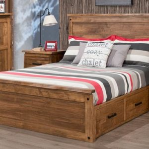 Pemberton 4-Drawer Storage Bed with Low Footboard (Queen)
