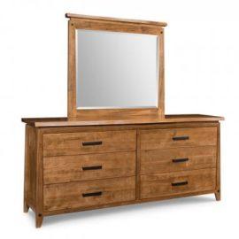 Pemberton 6-Drawer Long Dresser & Mirror