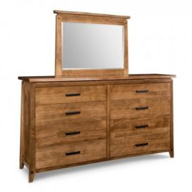 Pemberton 8-Drawer Long High Dresser & Mirror