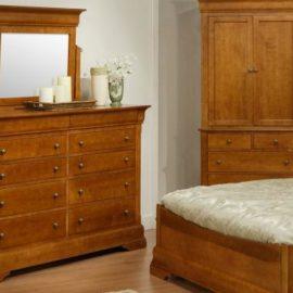 Phillipe 10-Drawer High Dresser & Mirror
