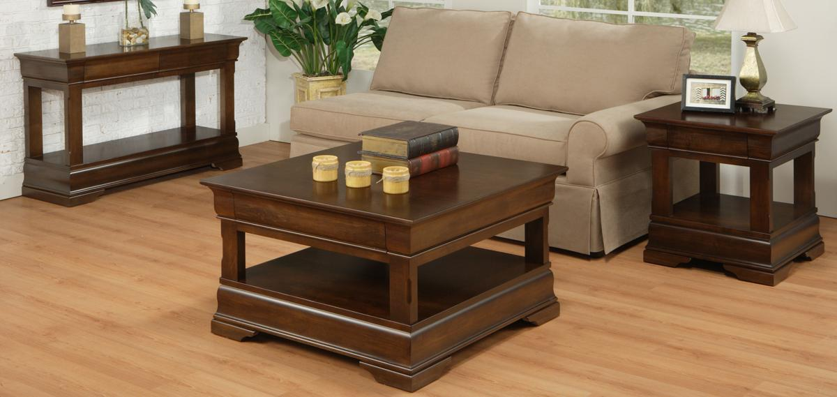 Phillipe occasional table set contemporary coffee end for Occasional tables for living room