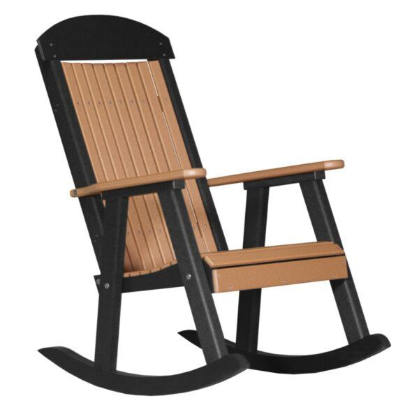 Porch Rocker - Cedar & Black