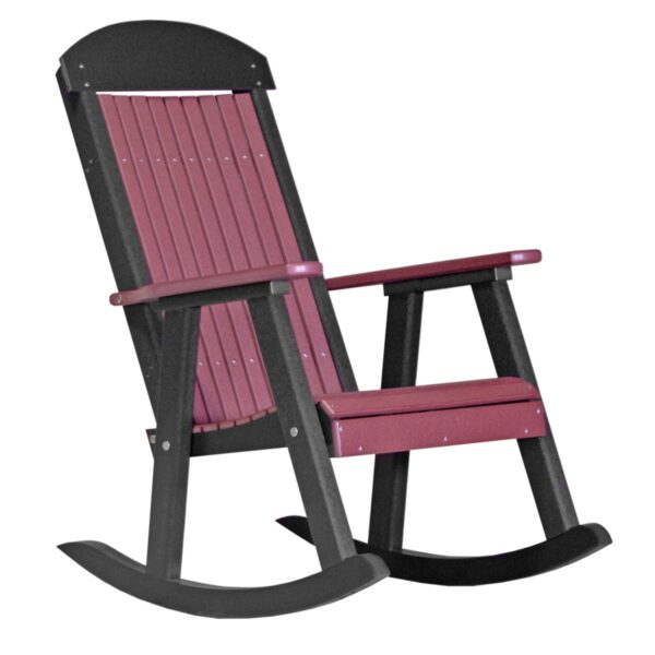 Porch Rocker - Cherry & Black