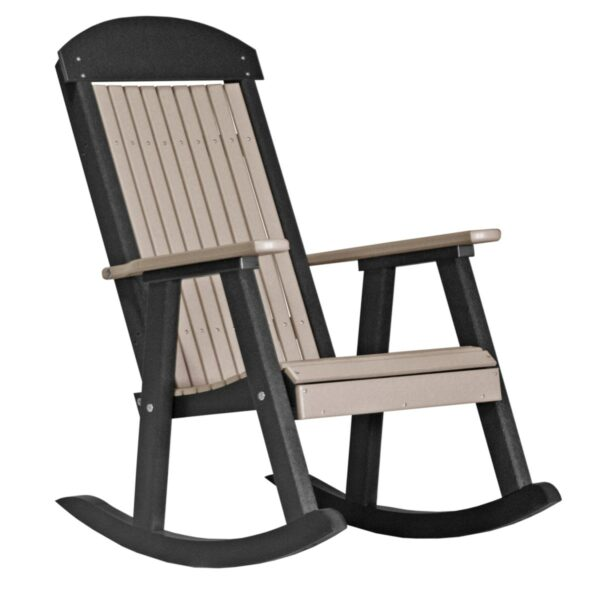 Porch Rocker - Weatherwood & Black