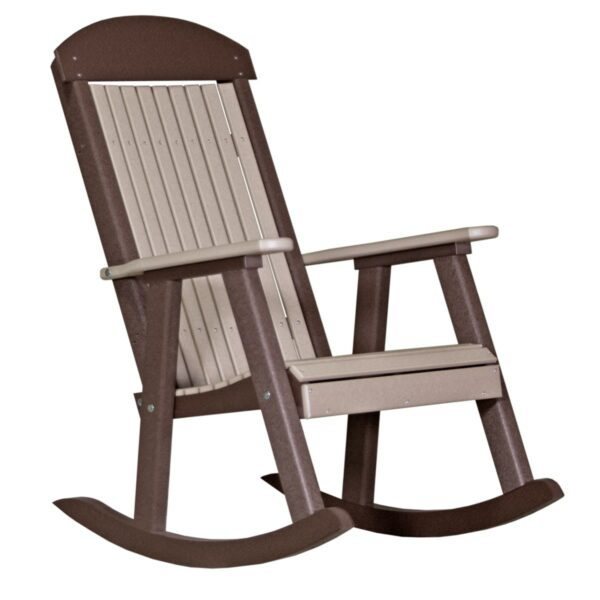 Porch Rocker - Weatherwood & Brown