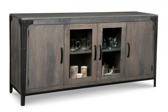 Portland 4-Door Sideboard with 2-Centre Glass Doors