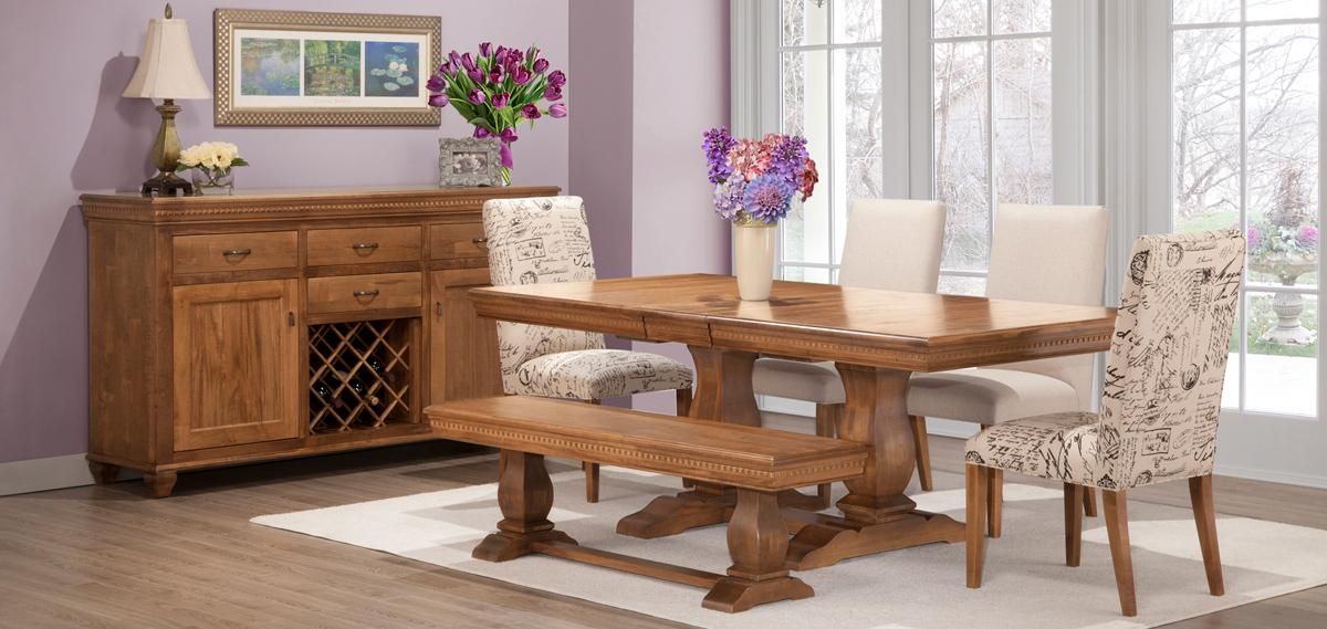 provence dining set dining room furniture fine oak things. Black Bedroom Furniture Sets. Home Design Ideas