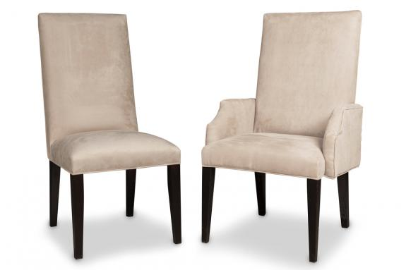 Provence dining chairs fabric and leather dining chairs for High back parsons chair