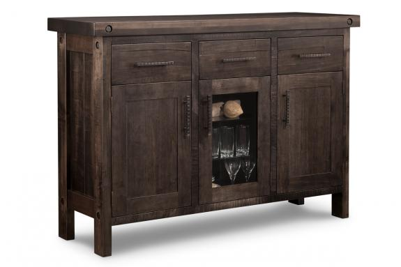 Rafters 3-Drawer 3-Door Sideboard with Centre Glass Door