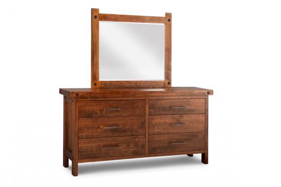 Rafters 6-Drawer Long Dresser & Mirror