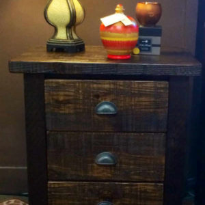 Reclaimed 3-Drawer Nightstand