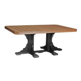 Rectangular Table - Antique Mahogany & Black