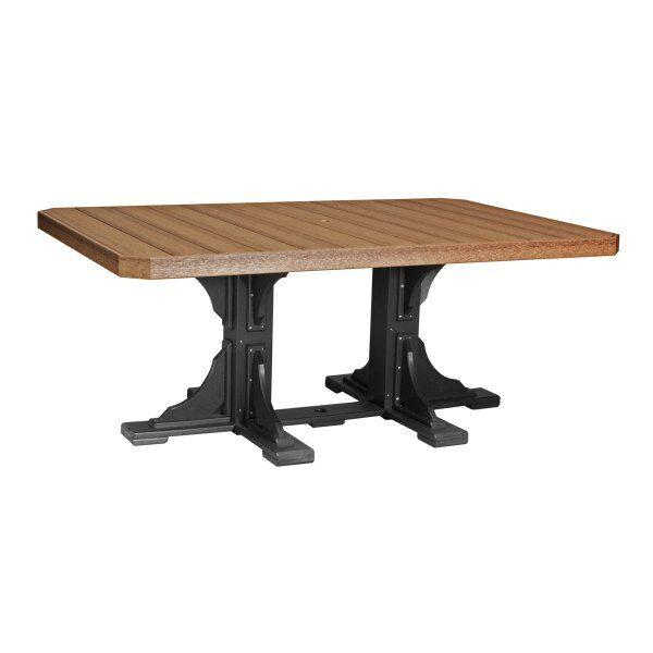 Rectangular Table - Antique Mahogany & Black