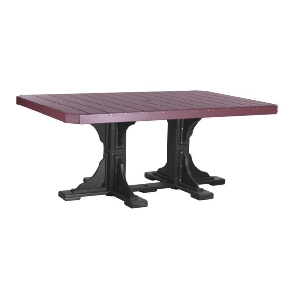 Rectangular Table - Cherry & Black