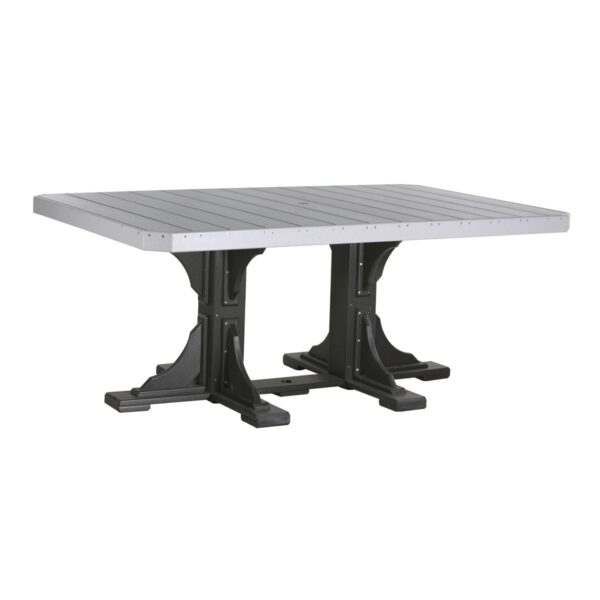 Rectangular Table - Dove Gray & Black