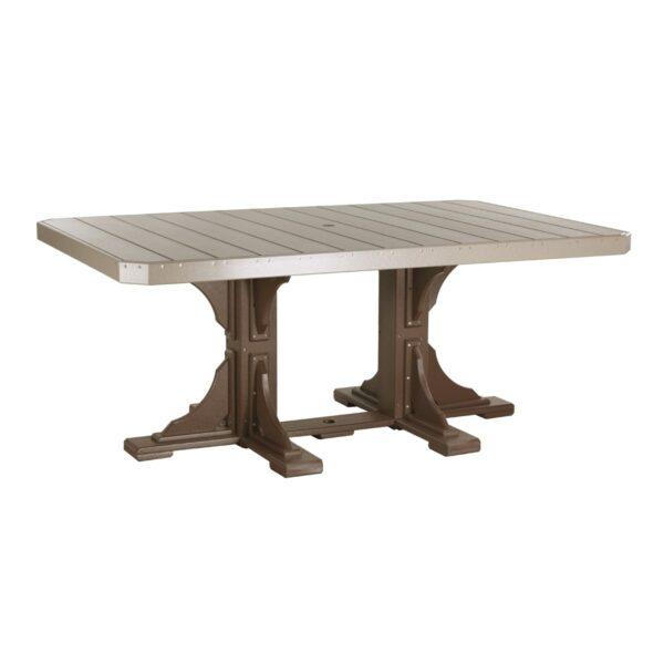 Rectangular Table - Weatherwood & Chestnut Brown