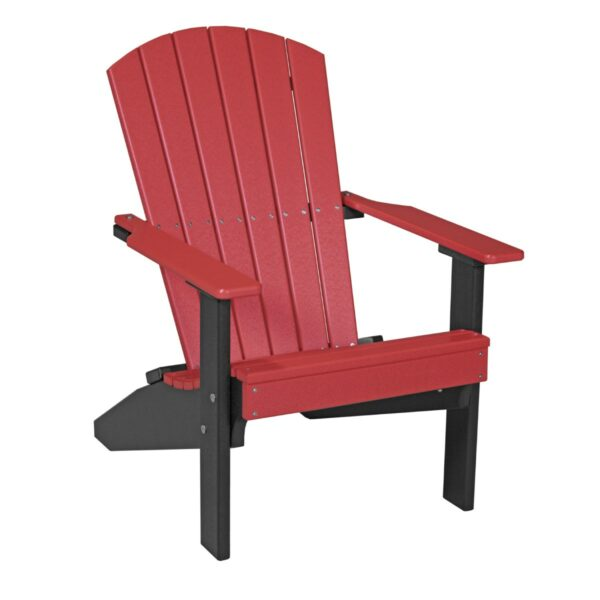 Lakeside Adirondack Chair - Red & Black
