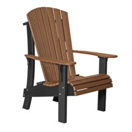 Royal Adirondack Chair - Antique Mahogany & Black