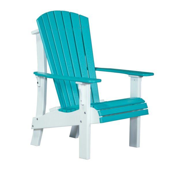 Royal Adirondack Chair - Aruba Blue & White