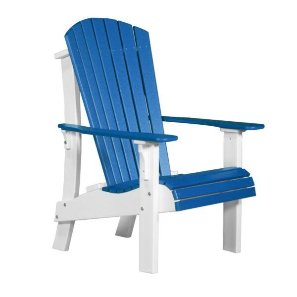 Royal Adirondack Chair - Blue & White