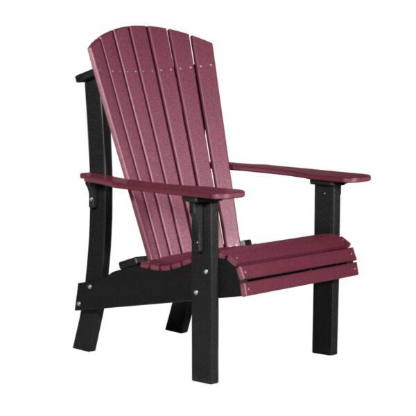 Royal Adirondack Chair - Cherry & Black