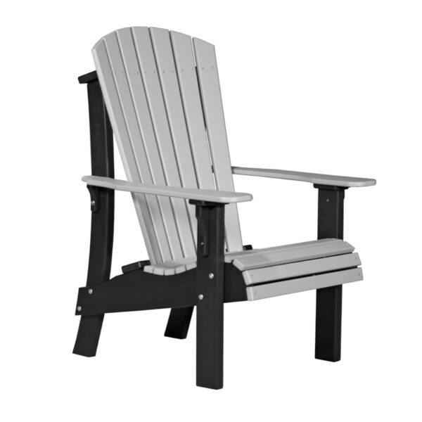 Royal Adirondack Chair - Dove Gray & Black