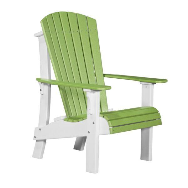 Royal Adirondack Chair - Lime Green & White