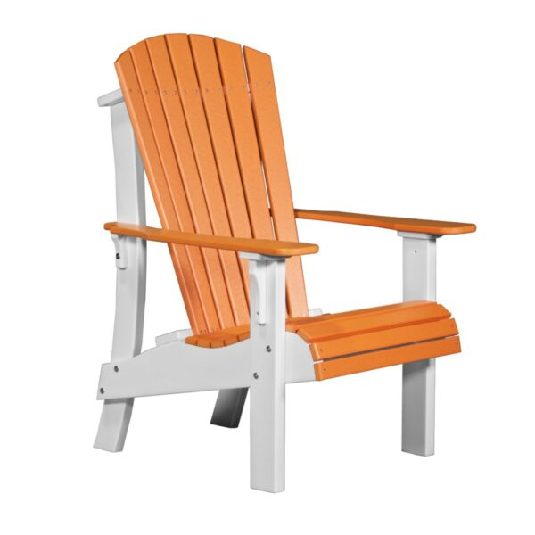 Royal Adirondack Chair - Tangerine & White