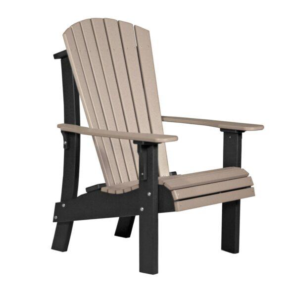 Royal Adirondack Chair - Weatherwood & Black
