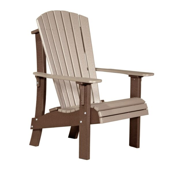 Royal Adirondack Chair - Weatherwood & Brown