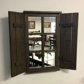 Reclaimed Shutter Mirror
