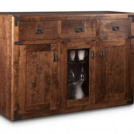 Saratoga 3-Drawer 3-Door Sideboard with Centre Glass Door