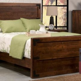 Saratoga Bed with High Footboard (Queen)