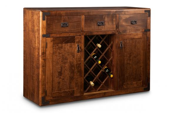Saratoga Sideboard with Wine Rack Rustic Sideboards