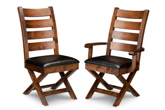 Saratoga X-Base Dining Chair (Side & Arm)