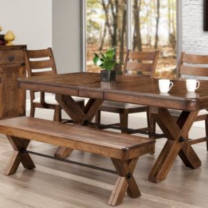 Saratoga X-Base Dining Set