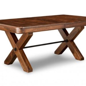 Saratoga X-Base Dining Table (Pedestal)