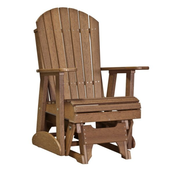 Single Adirondack Glider - Antique Mahogany