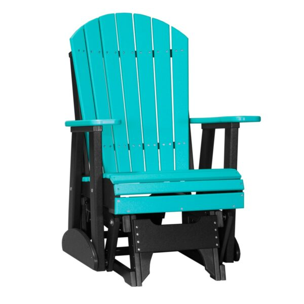Single Adirondack Glider - Aruba Blue & Black