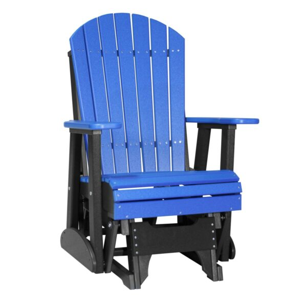 Single Adirondack Glider - Blue & Black