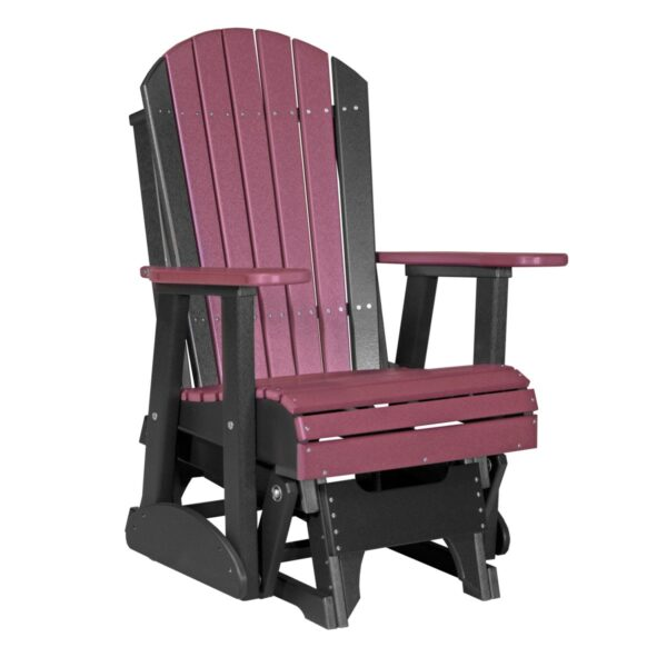Single Adirondack Glider - Cherry & Black