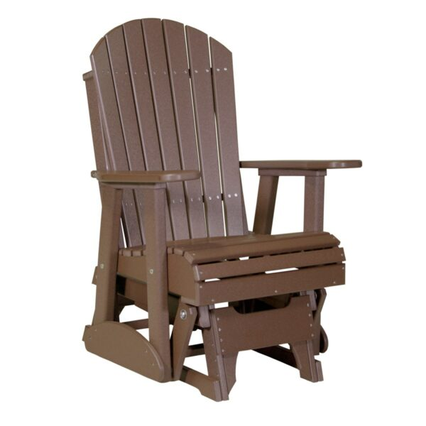 Single Adirondack Glider - Chestnut Brown